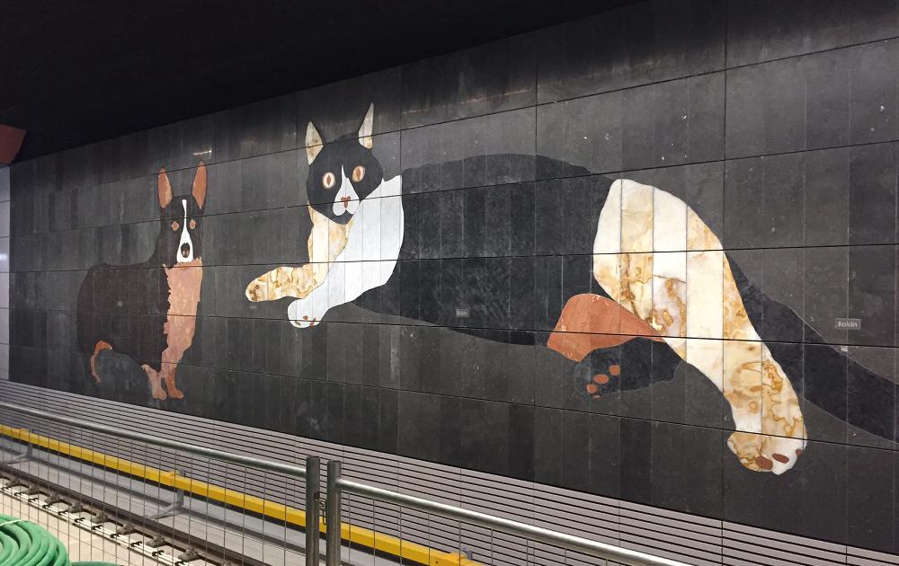 Métro Amsterdam - Chien et chat